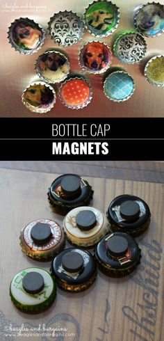 Cool DIY Ideas for Fun and Easy Crafts - DIY Bottle Cap Magnets Tutorial - Awesome Pinterest DIYs that Are Not Impossible To Make - Creative Do It Yourself Craft Projects for Adults, Teens and Tweens. http://diyprojectsforteens.com/fun-crafts-pinterest
