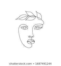 Find One Line Drawing Beauty Woman Face stock images in HD and millions of other royalty-free stock photos, illustrations and vectors in the Shutterstock collection. Line Drawing Tattoos, Face Line Drawing, Drawing Tips, Art Sketches, Art Drawings, Dress Sketches, Abstract Face Art, Line Art Vector, Diy Canvas Art