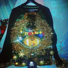 ON SALE TIL MIDNIGHT TONIGHT! REGULAR PRICE IS 135.00 SALE $80.00 WITH FREE SHIPPING!! Check out this item in my Etsy shop https://www.etsy.com/listing/207196191/light-up-ugly-christmas-sweater-steelers
