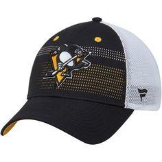 5ca2bca4d4072 Men s Pittsburgh Penguins Fanatics Branded Black White Iconic Grid Trucker Adjustable  Hat