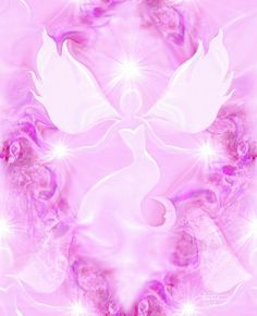 Bliss is a pink angel art print in my reiki energy art line of healing wall decor.  This angel art print would be a beautiful addition to a
