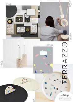 etsy gift guide, etsy christmas, xmas gift ideas, etsy design best, italianbark interior design blog, gift ideas terrazzo, terrazzo trend