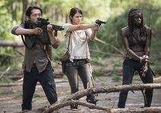 Glenn,Maggie and Michonne