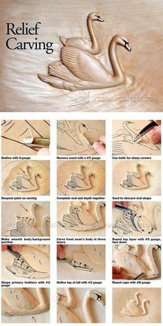 Relief Carving Techniques - Wood Carving Patterns and… #WoodworkingProjectsBeginner