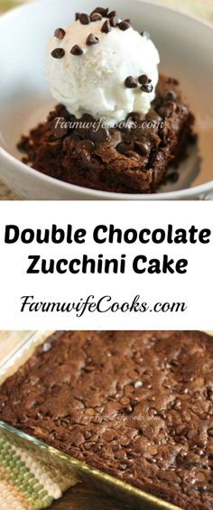 Are you looking for a delicious way to get your veggies? This Double Chocolate Zucchini Cake is the perfect treat!