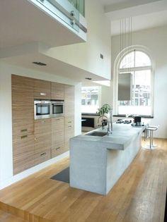 Kitchen space / cocina Luxe, eigentijds en sfeervol loft appartement in Haarlem