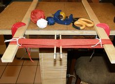 Full information on continuous backstrap warping, string heddles and setting up the backstrap loom