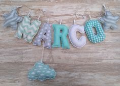 Felt Name Banner, Name Banners, Fabric Letters, Fabric Names, Boy Or Girl, Lettering, Etsy, Color, Finger Nails