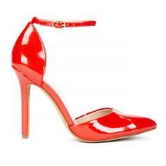 Giselle almond toe pump - Cardinal