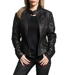 Women's Loves Me Not Leather Jacket Biker / Moto New Black - Jackets Maker Affliction Clothing, Leather Jackets For Sale, Jackets For Women, Women's Jackets, Unique Clothes For Women, Biker Style, Celebrity Outfits, The Ordinary, Cool Outfits