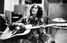 Jimmy Page in Studio 1969. Recording Rythm track to Thank You. Morgan Studios 169-171 High Road, Willesden, N.W. London
