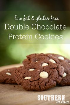 This Double Chocolate Protein Cookies Recipe makes the ultimate protein packed snack that is perfect for lunchboxes. Low fat, gluten free, high protein, refined sugar free and so easy to make!