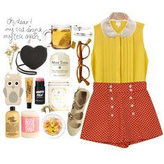 """I find it fundamentally strange that you're not a dessert person"" by lithe-fae on Polyvore"