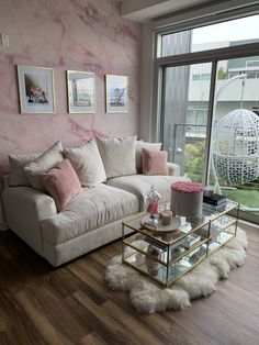 Remi Cruz On Studio Apartment Furniture Living Room Within Cute Living Room Cute Living Room, Glam Living Room, Living Room Decor Cozy, Cute Room Decor, Cozy Living, Living Rooms, Room Ideas Bedroom, Bedroom Decor, First Apartment Decorating