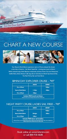 Bimini SuperFast's Special Packages set for July sailing. Two roundtrips daily. 888-930-8688.