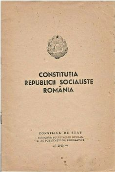 Constitutia RSR, The Romanian Communist Republic Constitution, lawbook 1980 Greater Than, Socialism, Constitution, Magazines, Books, Ebay, Journals, Libros