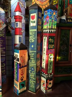 Painted Garden Totems