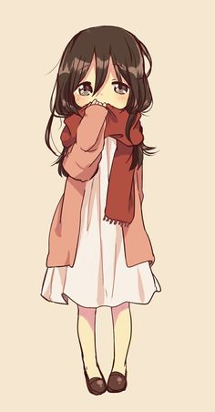 such a cute little. I wanna say chibi but. idk if i should<<is this supposed to be little mikasa? It looks like little Mikasa from attack on titan Anime Chibi, Manga Anime, Anime Pokemon, Fanarts Anime, Anime Characters, Anime Art, Read Anime, Manga Girl, Anime Girls