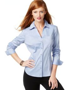 INC International Concepts Fitted Button-Up Shirt, Only at Macy's