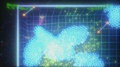Geometry Wars' digitale look gaat hand in hand met de elektronische muziek