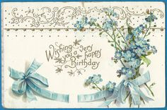 Wishing you a very Happy Birthday vintage postcard by MagpieSue
