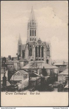 East End, Truro Cathedral, Cornwall, 1912 - Frith's Postcard