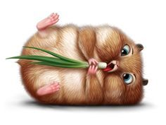 20 Cute and Easy Cartoon Hamster Drawing Ideas Cute Animal Illustration, Cute Animal Drawings, Illustration Art, Cute Baby Animals, Funny Animals, Illustration Mignonne, Art Mignon, Cute Hamsters, Cute Cartoon