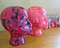 Decoupage craft ideas DIY Mannequin heads! See how to make them here-> http://blukatkraft.blogspot.com/2014/03/diy-decoupage-mannequin-head-crafts.html