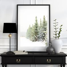 Magical And Mesmerizing Miniature Watercolor Paintings - Bored Art Snowy Trees, Winter Trees, Forest Photography, Winter Photography, Fairy Lights In Trees, Christmas Tree Pictures, Christmas Tree Painting, Winter Home Decor, Tree Sculpture