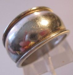 Wide Sterling Silver Band Ring Size 6 by BrightEyesTreasures $22.00