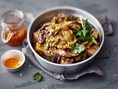 Linssipata tehdään nyt curryksi. Kasvisruoka maistuu sekä pääruokana, että lisukkeena. Curryn määrä kannattaa säätää omien makumieltymysten mukaan.