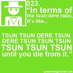 The tsun:dere ration