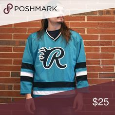 """Vintage Rawlings Hockey Jersey Cool jersey by Rawlings in a San Jose Sharks style colorway. Large 23"""" wide 29"""" long rawlings Shirts"""