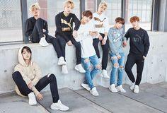 BTS PUMA, bts 2016 ad, bts photoshot v jimin jungkook suga jin jhope rap monster 2016 Seokjin, Namjoon, Bts 2018, Jung Hoseok, Billboard Music Awards, Foto Bts, Fake Instagram, Les Bts, Team Pictures