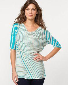 Le Château: Cut & Sew Stripe Tunic