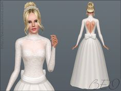 Valentine's Wedding dress by BEO - Sims 3 Downloads CC Caboodle