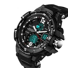 30M Waterproof Dual Display LED Sports Military Watches Mens Analog Quartz Digital Watch >>> Check out this great product.(It is Amazon affiliate link) #sun