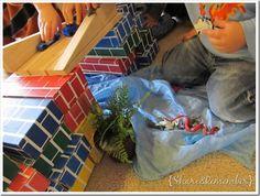 Building a block bridge