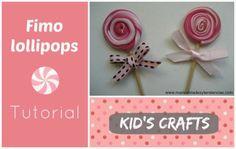 How to make a polymer clay or fimo lollipop www.manualidadesytendencias.com #polymerclay #fimolollipop #crafts #manualidades