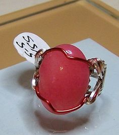 2 Wire Shank Ring With Beautiful Red Stone
