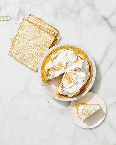 Passover Dessert Recipes | Martha Stewart Living - Crumbled matzo mixed with coconut oil and sugar makes a graham-like crust ready to be filled with your favorite filling; kosher lemon curd and meringue or chocolate ganache or . . . ?