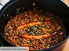 Cookeo lentil sausage - Recipes - Cookeo lentil sausage, easy and cheap: recipe on Current Cuisine - Beef Soup Recipes, Sausage Recipes, Vegetarian Recipes, Cooking Recipes, Healthy Recipes, Lentil Recipes, Healthy Crock Pots, Healthy Soup, Healthy Drinks