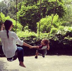 Swinging in the sun: Miranda Kerr