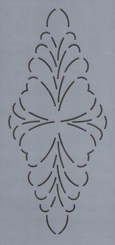 "Feathered Diamond 9.5"" - The Stencil Company"
