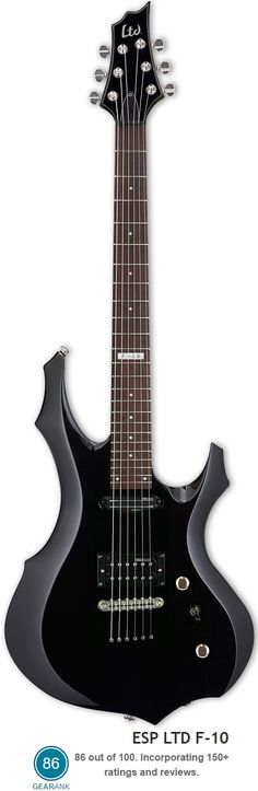 The ESP LTD F-10 is a great guitar to learn heavy metal on and was recommended as one of the best electric guitars you can buy new for less than $200 by Gearank.com.