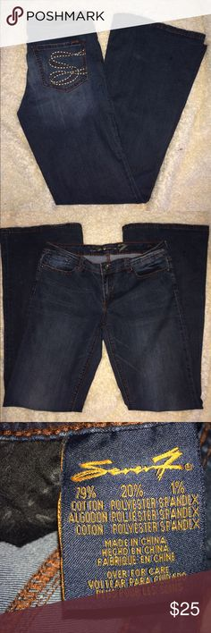 Seven 7 flare blue jeans Size 31 Seven 7 flare blue jeans Size 31 ...smoke free home if you have any questions let me know measurements are pictured Seven7 Jeans Flare & Wide Leg