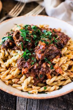 hearty braised beef and gemelli pasta hearty braised beef and gemelli ...
