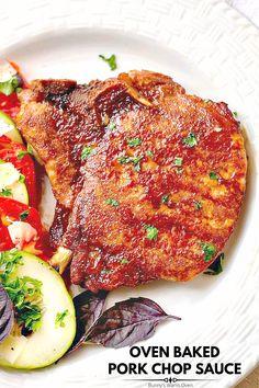 Easy Pork Chop Recipes, Pork Roast Recipes, Meat Recipes, Cooking Recipes, Cooking Food, Healthy Cooking, Yummy Recipes, Yummy Food, Smothered Pork Chops Recipe