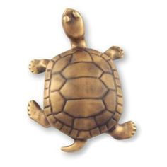 Turtle Sculpture Outdoor Art - Bronze -- Click image for more details.