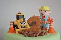 Bob the Builder cake toppers.